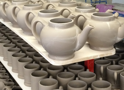 Leatherhard greenware