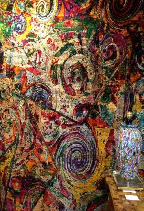 Pure silk rug